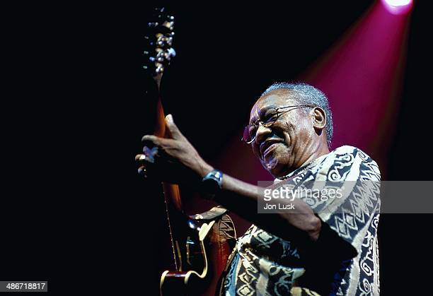 Musician Ernest Ranglin on stage at the WOMAD Festival Reading England 2002