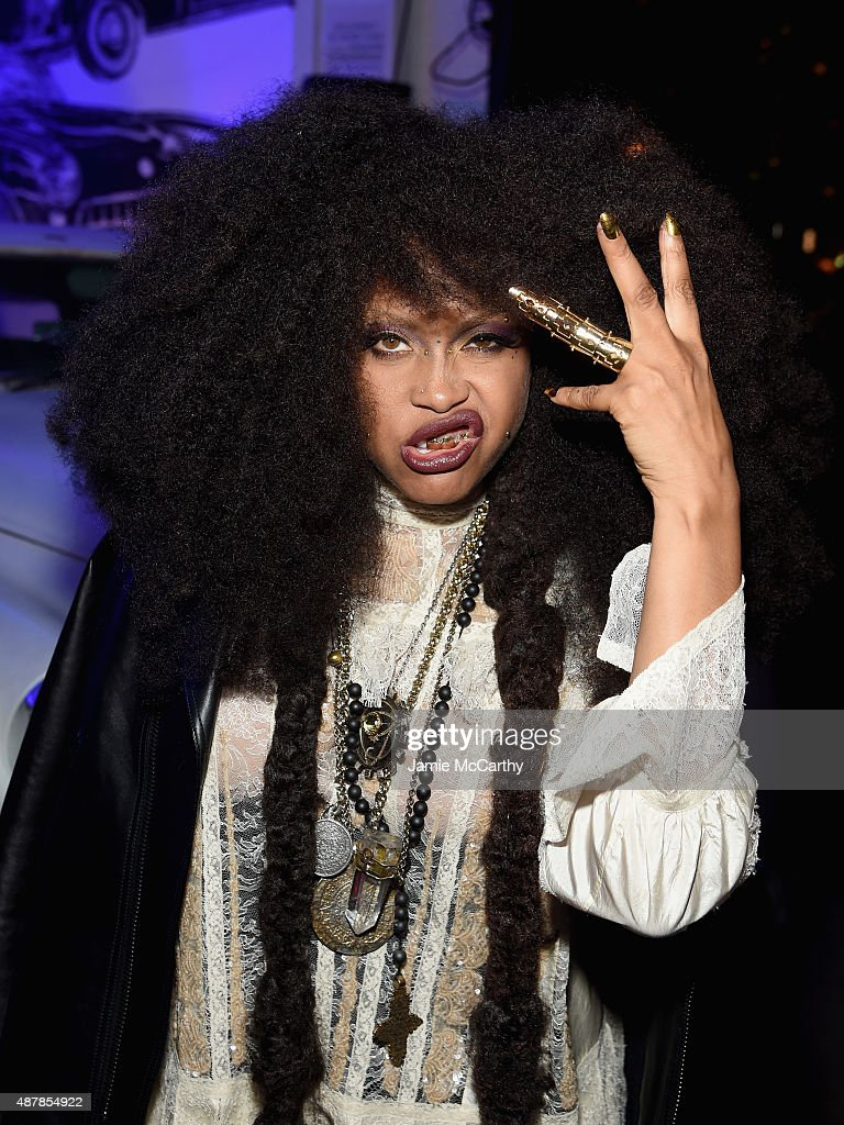 Musician Erykah Badu attends the Givenchy SS16 after party on September 11 2015 in New York City