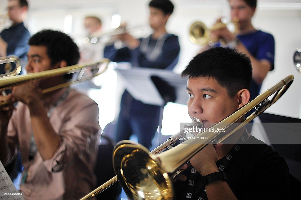 Musician Ethan Santos performs with The 58th GRAMMY Awards - GRAMMY Camp - Jazz Session Rehearsals on February 8, 2016 in Marina del Rey, California.