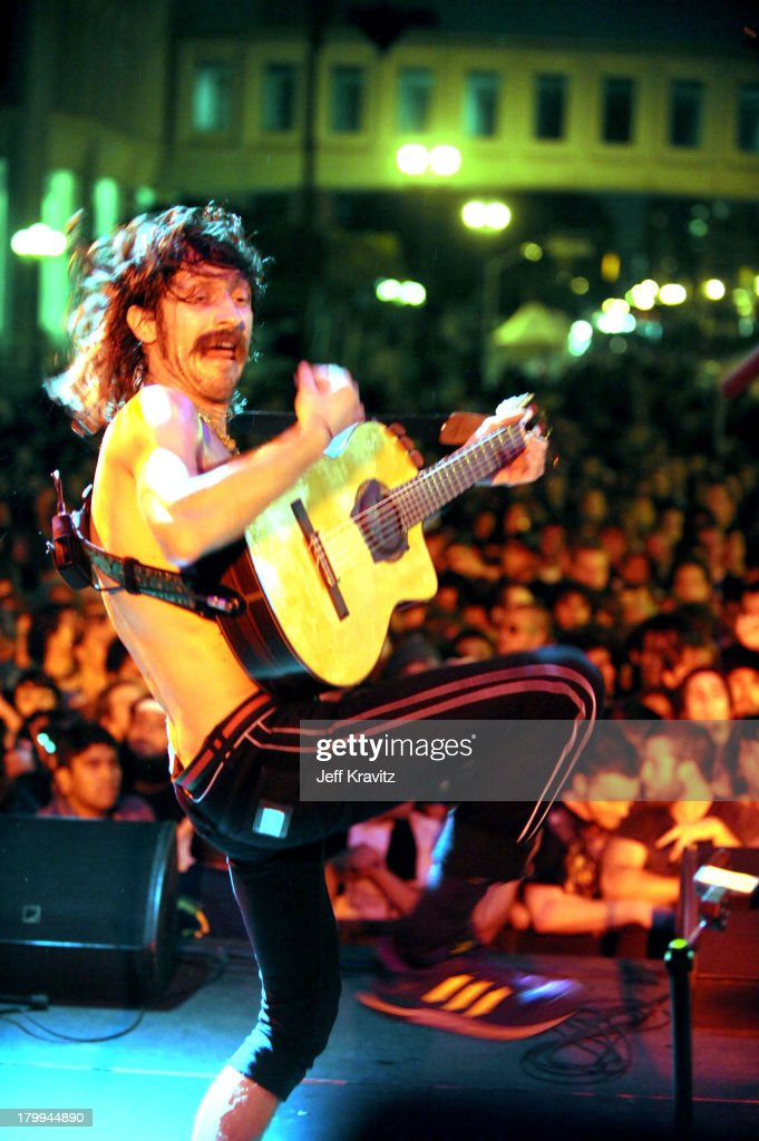 Musician Eugene Hutz of Gogol Bordello performs at the 2008 Detour Festival on October 4, 2008 in Los Angeles, California.