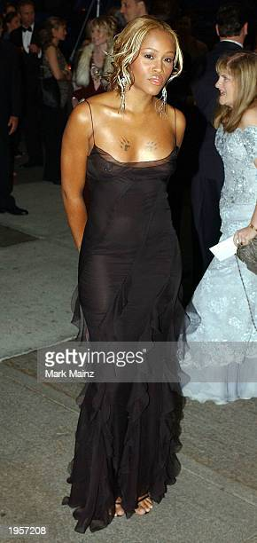 Musician Eve arrives for 'Goddess Costume Institute Benefit Gala' at the Metropolitan Museum of Art April 28 2003 in New York City