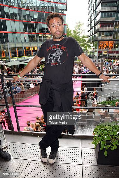 US musician Evil Jared Hasselhoff attends the Suicide Squad Live Event at CineStar on August 3 2016 in Berlin Germany