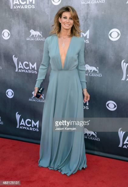 Musician Faith Hill attends the 49th Annual Academy Of Country Music Awards at the MGM Grand Garden Arena on April 6 2014 in Las Vegas Nevada