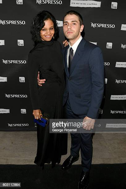Musician Fefe Dobson and director Xavier Dolan attend the official afterparty for 'It's Only The End Of The World' presented by Nespresso during the...