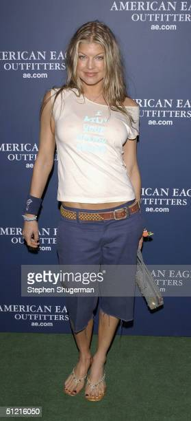 Musician Fergie of Black Eyed Peas attends AE Jeans Will Rock You Campaign at the Ivar on August 24 2004 in Hollywood California