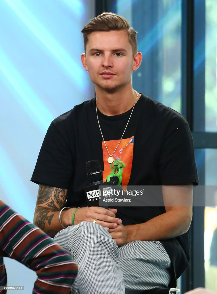 Musician Fil Thorpe-Evans from the pop punk band Neck Deep discusses the album 'The Peace and The Panic' at Build Studio on August 17, 2017 in New York City.