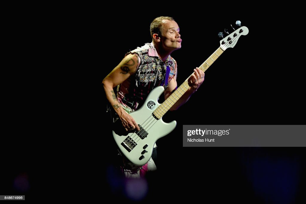 Musician Flea of Red Hot Chili Peppers performs onstage during the Meadows Music and Arts Festival - Day 3 at Citi Field on September 17, 2017 in New York City.