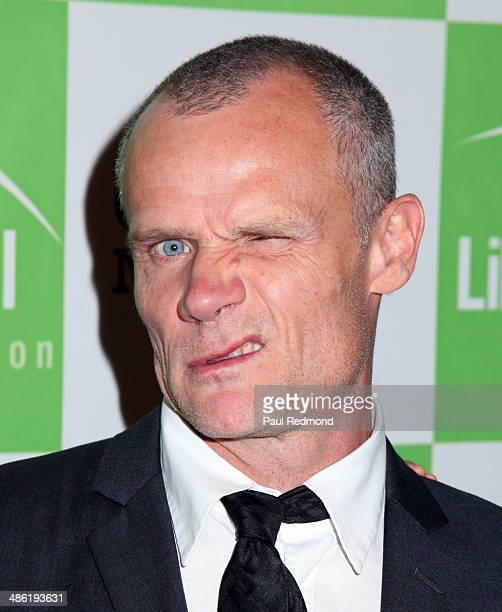 Musician Flea of The Red Hot Chili Peppers arriving at Liberty Hill Foundation's Annual Upton Sinclair Dinner at The Beverly Hilton Hotel on April 22...