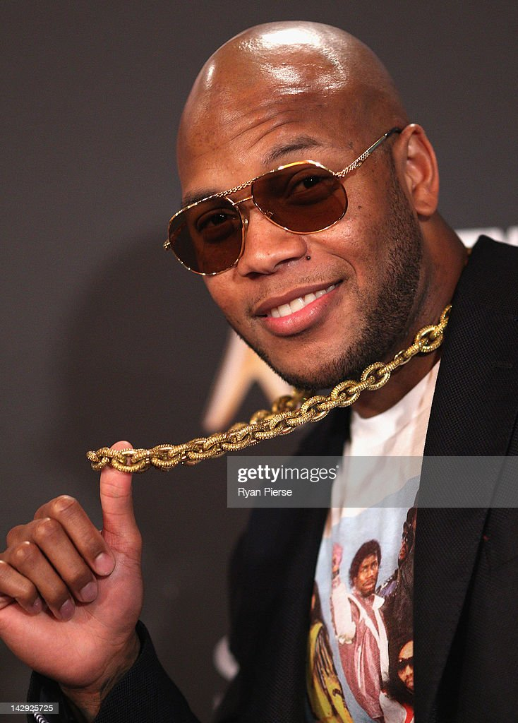 Musician <a gi-track='captionPersonalityLinkClicked' href=/galleries/search?phrase=Flo+Rida&family=editorial&specificpeople=4456012 ng-click='$event.stopPropagation()'>Flo Rida</a> arrives at the 2012 Logie Awards at the Crown Palladium on April 15, 2012 in Melbourne, Australia.