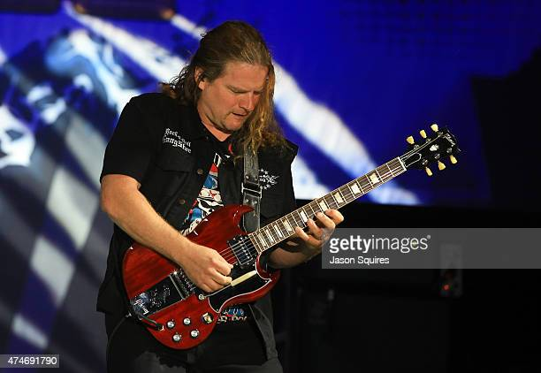 Musician Frank Hannon of Tesla performs at day 3 of Rocklahoma 2015 on May 24 2015 in Pryor Oklahoma