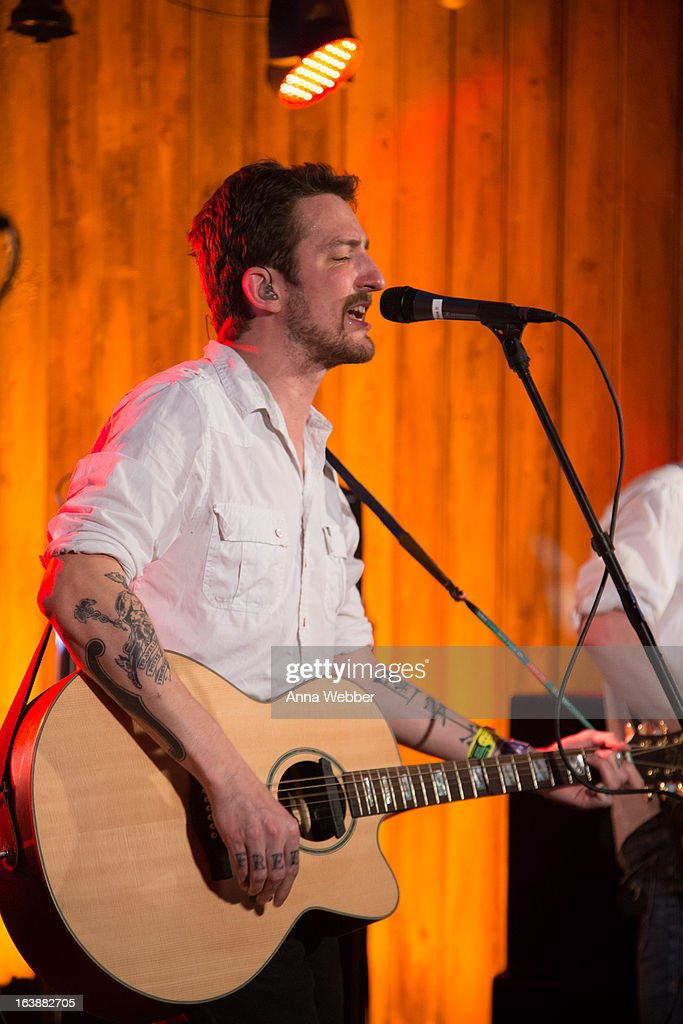 Musician Frank Turner performs during DIRECTV And AUDIENCE Network's Road To Rogue Party on March 16, 2013 in Austin, Texas.