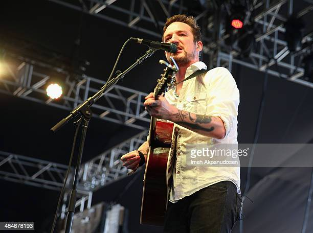 Musician Frank Turner performs onstage during day 3 of the 2014 Coachella Valley Music Arts Festival at the Empire Polo Club on April 13 2014 in...