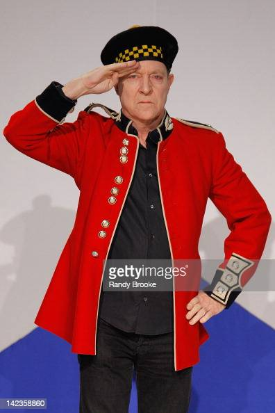 Musician Fred Schneider of the The B52's walks the runway during the From Scotland with Love 10th Anniversary show at The Liberty Theatre on April 2...