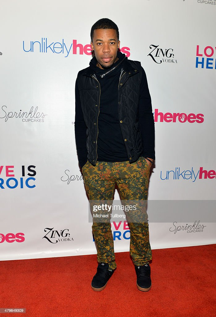 Musician Gabe Roland attends the Unlikely Heroes Red Carpet Spring Benefit held at SupperClub Los Angeles on March 20, 2014 in Los Angeles, California.