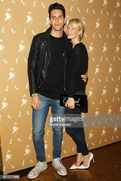 Musician Gabe Saporta of Cobra Starship and fashion designer Erin Fetherston attend Johnnie Walker's toast of the launch of Gold Label Reserve The...