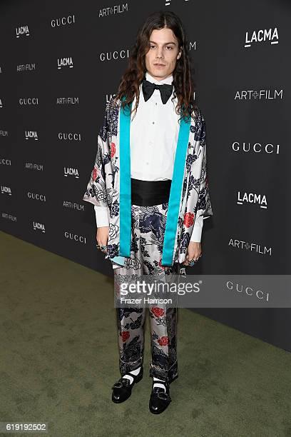 Musician Garrett Borns aka BORNS wearing Gucci attends the 2016 LACMA Art Film Gala honoring Robert Irwin and Kathryn Bigelow presented by Gucci at...