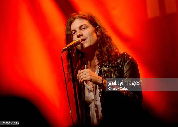 Musician Garrett Borns of BORNS performs at Discover Los Angeles' 'Get Lost' PopUp Concert at The Geffen Contemporary at MOCA on April 27 2016 in...