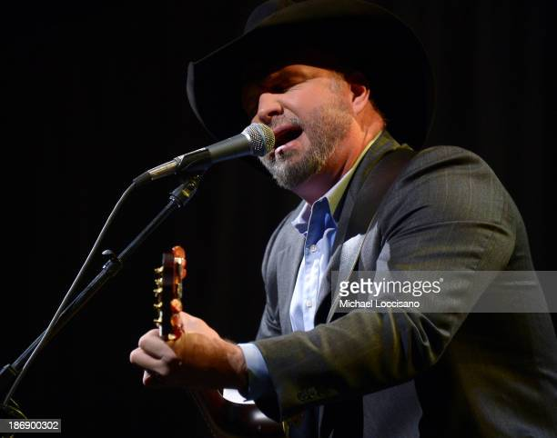 Musician Garth Brooks performs onstage during the 51st annual ASCAP Country Music Awards at Music City Center on November 4 2013 in Nashville...