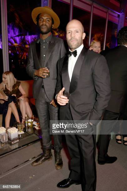 Musician Gary Clark Jr and actor Jason Statham attend the 2017 Vanity Fair Oscar Party hosted by Graydon Carter at Wallis Annenberg Center for the...