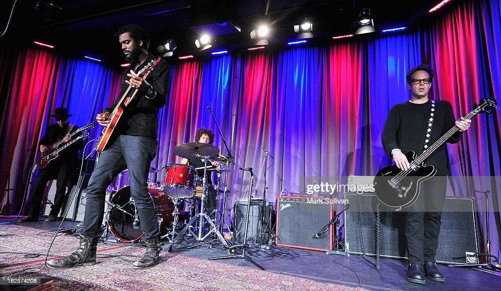 Musician Gary Clark Jr.(2nd from left) and band perform during An Evening With Gary Clark Jr. at The GRAMMY Museum on September 30, 2013 in Los Angeles, California.