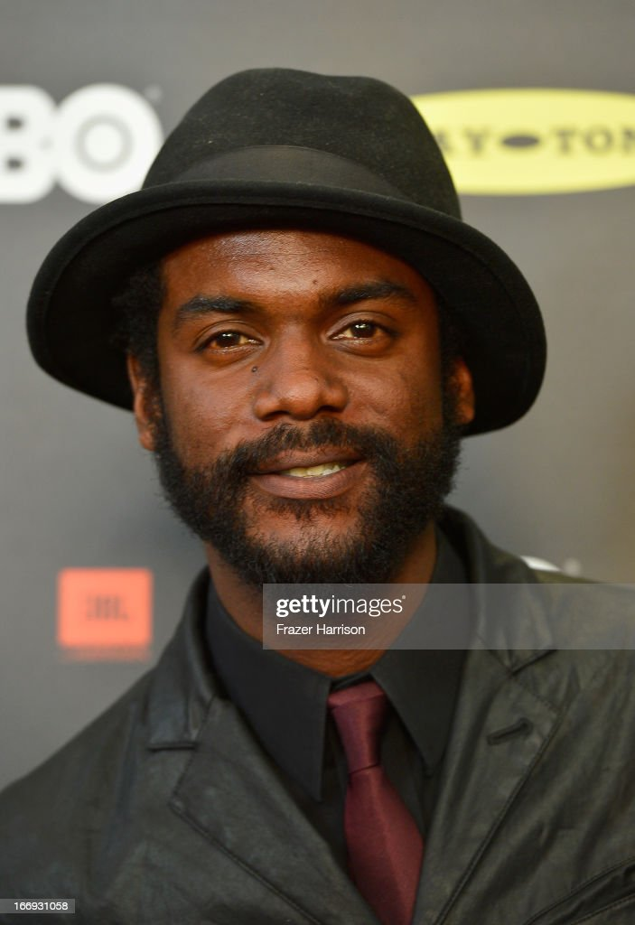 Musician <a gi-track='captionPersonalityLinkClicked' href=/galleries/search?phrase=Gary+Clark+Jr.&family=editorial&specificpeople=4495733 ng-click='$event.stopPropagation()'>Gary Clark Jr.</a> attends the 28th Annual Rock and Roll Hall of Fame Induction Ceremony at Nokia Theatre L.A. Live on April 18, 2013 in Los Angeles, California.
