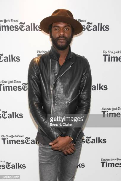 Musician Gary Clark Jr attends TimesTalks held at TheTimesCenter on March 22 2017 in New York City