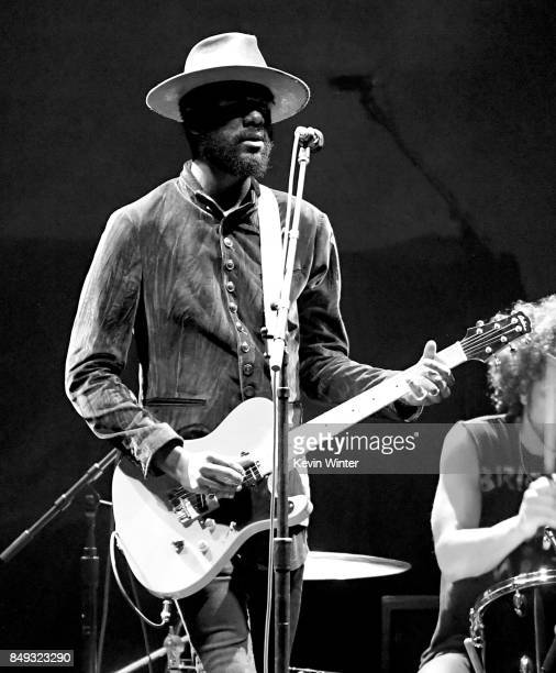 Musician Gary Clark Jr performs at The Forum on September 18 2017 in Inglewood California