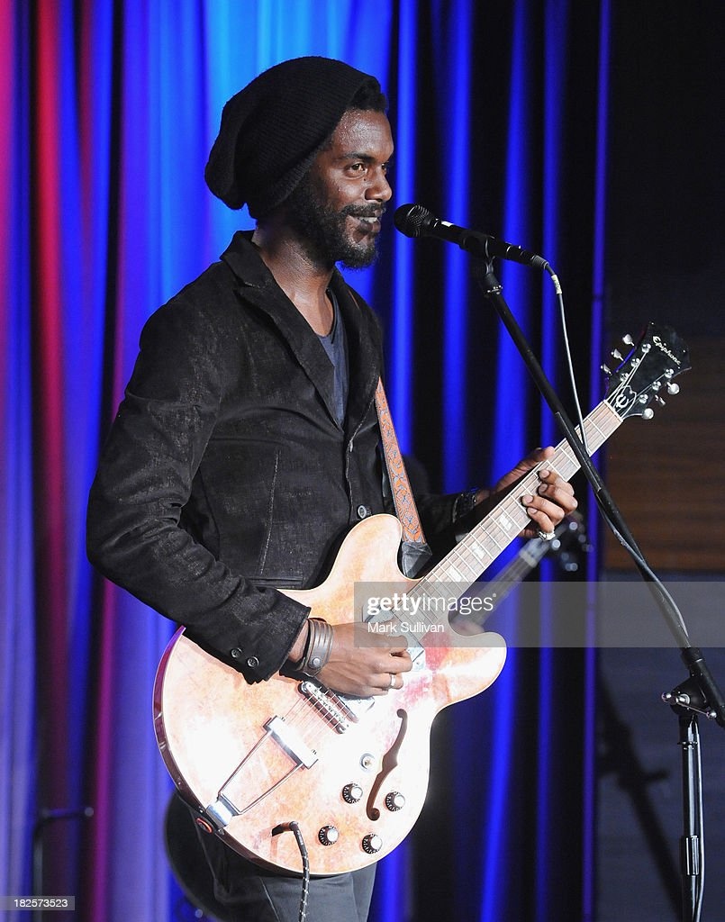 Musician Gary Clark Jr. performs during An Evening With Gary Clark Jr. at The GRAMMY Museum on September 30, 2013 in Los Angeles, California.