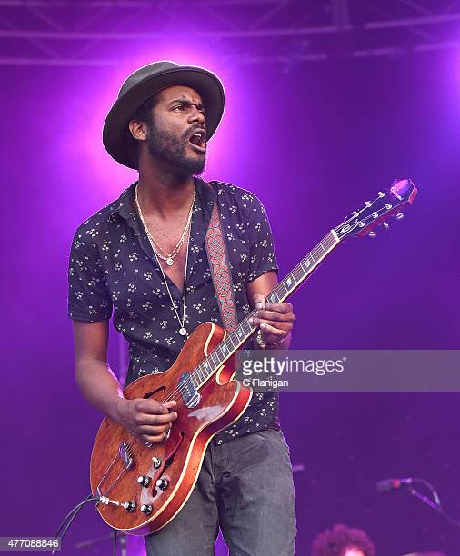 Musician Gary Clark Jr performs on the 'Which' stage during the 2015 Bonnaroo Music Arts Festival on June 13 2015 in Manchester Tennessee