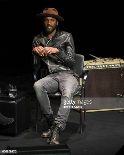 Musician Gary Clark Jr speaks on stage during TimesTalks held at TheTimesCenter on March 22 2017 in New York City