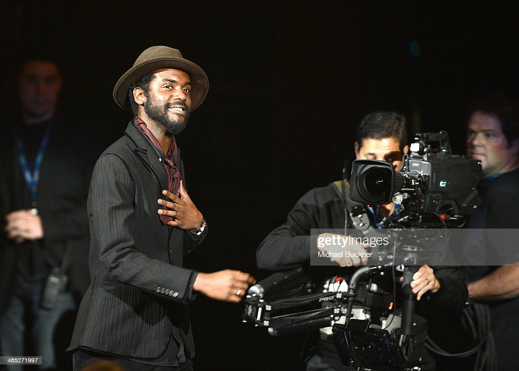 Musician Gary Clark, Jr. walks onstage during the 56th GRAMMY Awards Pre-Telecast at Nokia Theatre L.A. Live on January 26, 2014 in Los Angeles, California.