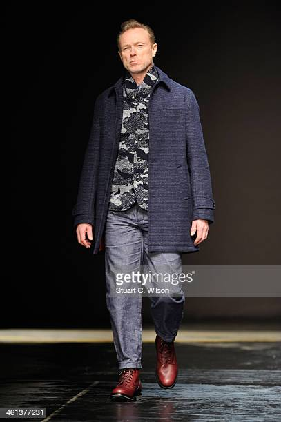 Musician Gary Kemp walks the runway at the Oliver Spencer show during The London Collections Men Autumn/Winter 2014 on January 8 2014 in London...
