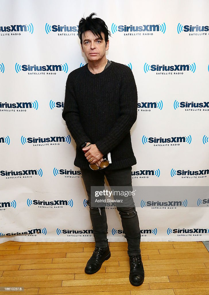 Musician <a gi-track='captionPersonalityLinkClicked' href=/galleries/search?phrase=Gary+Numan&family=editorial&specificpeople=258743 ng-click='$event.stopPropagation()'>Gary Numan</a> visits the SiriusXM Studios on October 28, 2013 in New York City.