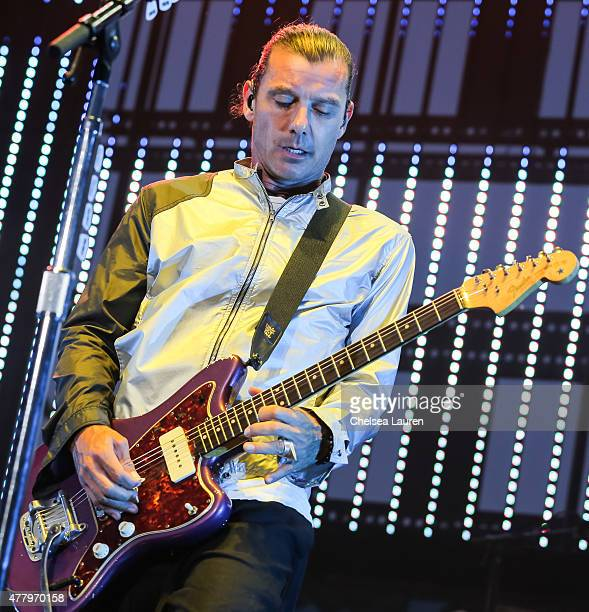 Musician Gavin Rossdale of BUSH performs at Jack's 10th Show at Irvine Meadows Amphitheatre on June 20 2015 in Irvine California
