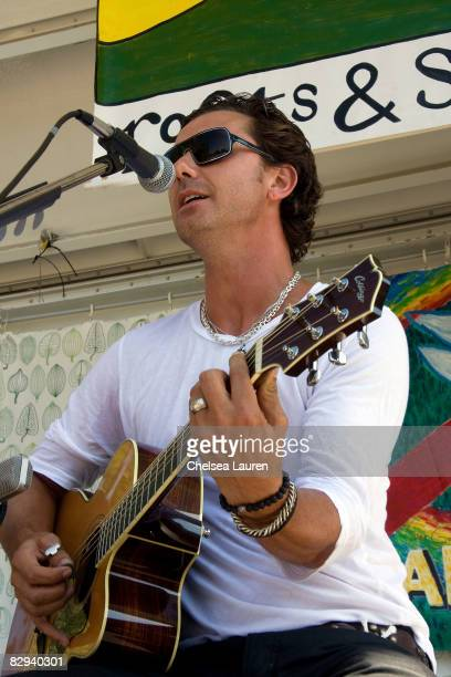 Musician Gavin Rossdale performs at Roots Shoots Day of Peace at Griffith Park on September 21 2008 in Los Angeles California