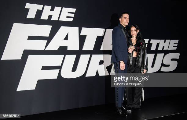 Musician GEazy and Kehlani attend 'The Fate Of The Furious' New York Premiere at Radio City Music Hall on April 8 2017 in New York City
