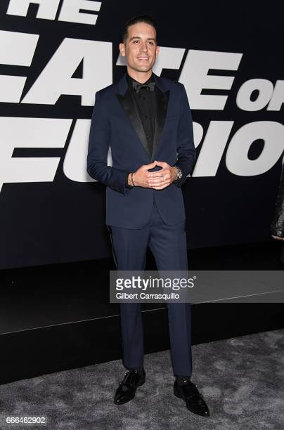 Musician GEazy attends 'The Fate Of The Furious' New York Premiere at Radio City Music Hall on April 8 2017 in New York City