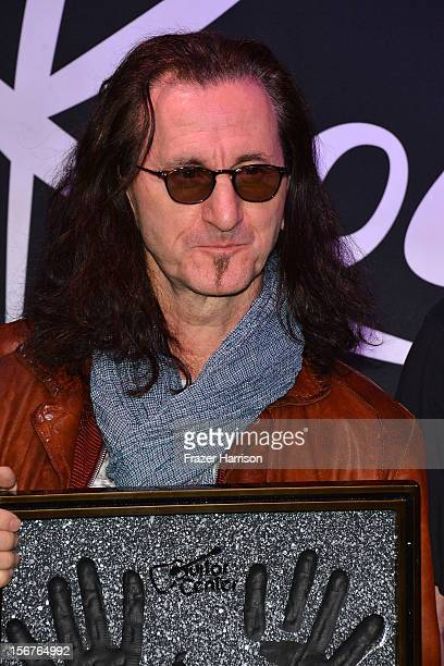 Musician Geddy Lee of Rush Honored On Guitar Center's RockWalk at Guitar Center on November 20 2012 in Hollywood California