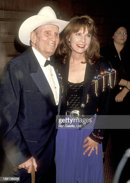 Musician Gene Autry and Singer Patty Loveless attend the Sixth Annual Gene Autry Western Heritage Museum Gala on October 28 1993 at Century Plaza...