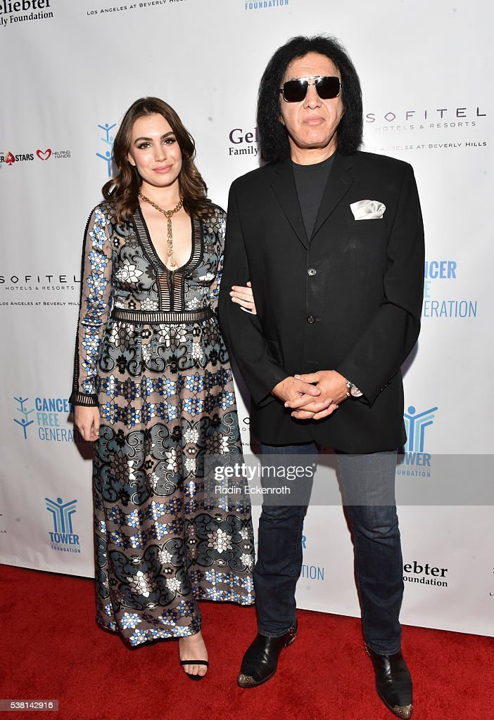 Musician Gene Simmons and actress Sophie TweedSimmons arrive at Tower Cancer Research Foundation's 3rd annual Ante Up For a Cancer Free Generation...