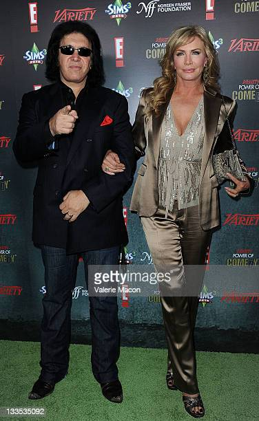 Musician Gene Simmons and Shannon Tweed arrive at Variety's 2nd Annual Power Of Comedy Event at Hollywood Palladium on November 19 2011 in Hollywood...