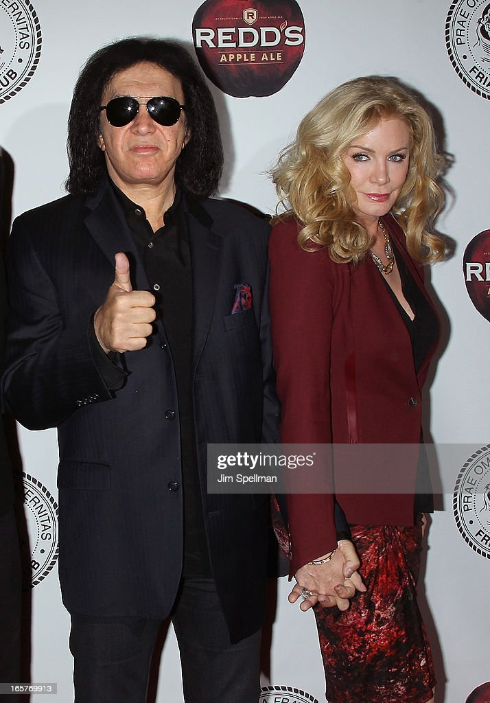 Musician Gene Simmons and Shannon Tweed attend The Friars Club Roast Honors Jack Black at New York Hilton and Towers on April 5, 2013 in New York City.