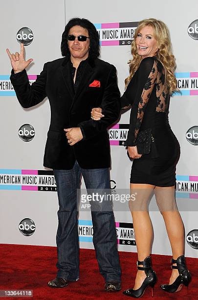 Gene Simmons Amp Wife Stock Photos And Pictures Getty Images