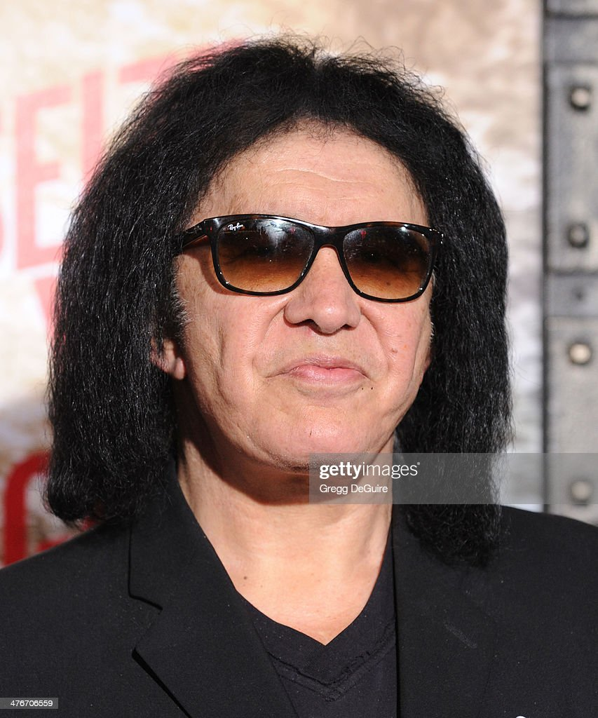 Musician <a gi-track='captionPersonalityLinkClicked' href=/galleries/search?phrase=Gene+Simmons&family=editorial&specificpeople=138593 ng-click='$event.stopPropagation()'>Gene Simmons</a> arrives at the '300: Rise Of An Empire' Los Angeles premiere at TCL Chinese Theatre on March 4, 2014 in Hollywood, California.