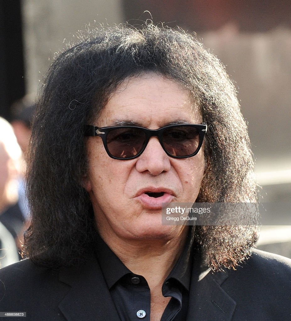 Musician <a gi-track='captionPersonalityLinkClicked' href=/galleries/search?phrase=Gene+Simmons&family=editorial&specificpeople=138593 ng-click='$event.stopPropagation()'>Gene Simmons</a> arrives at the Los Angeles premiere of 'Godzilla' at Dolby Theatre on May 8, 2014 in Hollywood, California.