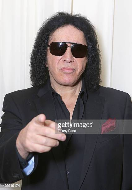 Musician Gene Simmons attends Friends Of The Israel Defense Forces Western Region Gala at The Beverly Hilton Hotel on November 5 2015 in Beverly...