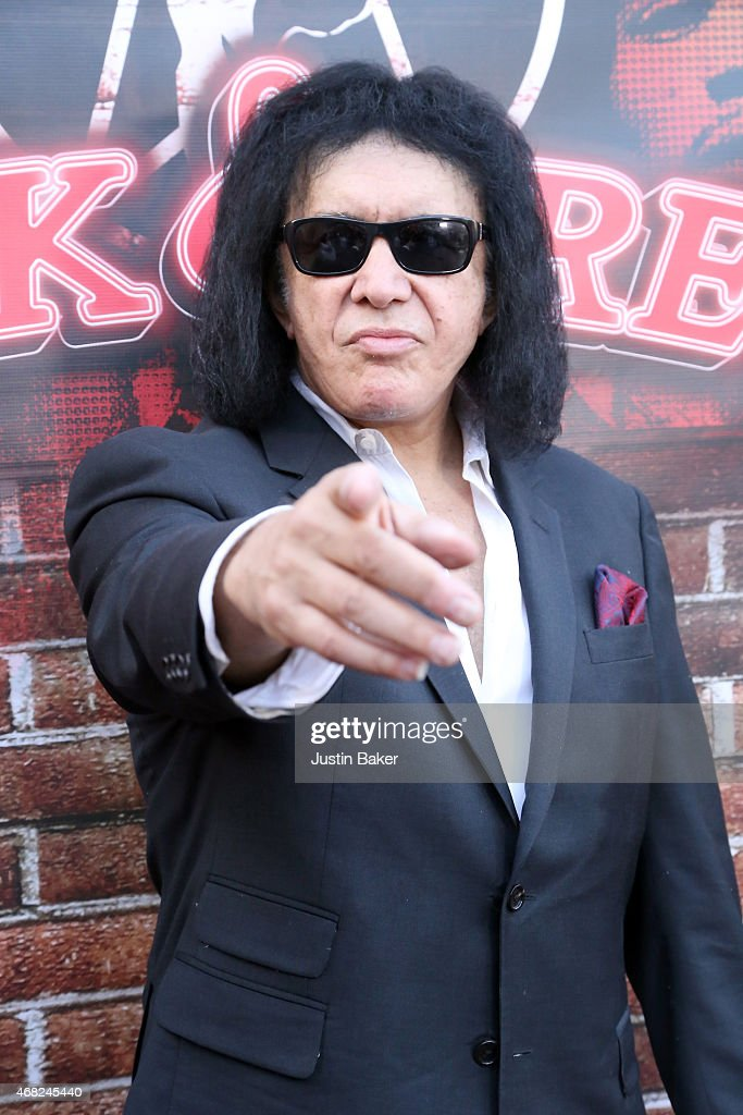Musician <a gi-track='captionPersonalityLinkClicked' href=/galleries/search?phrase=Gene+Simmons&family=editorial&specificpeople=138593 ng-click='$event.stopPropagation()'>Gene Simmons</a> attends the Book Release Party for '<a gi-track='captionPersonalityLinkClicked' href=/galleries/search?phrase=Gene+Simmons&family=editorial&specificpeople=138593 ng-click='$event.stopPropagation()'>Gene Simmons</a> Is A Powerful And Attractive Man And Other Irrefutable Facts' at Rock & Brews on March 31, 2015 in El Segundo, California.