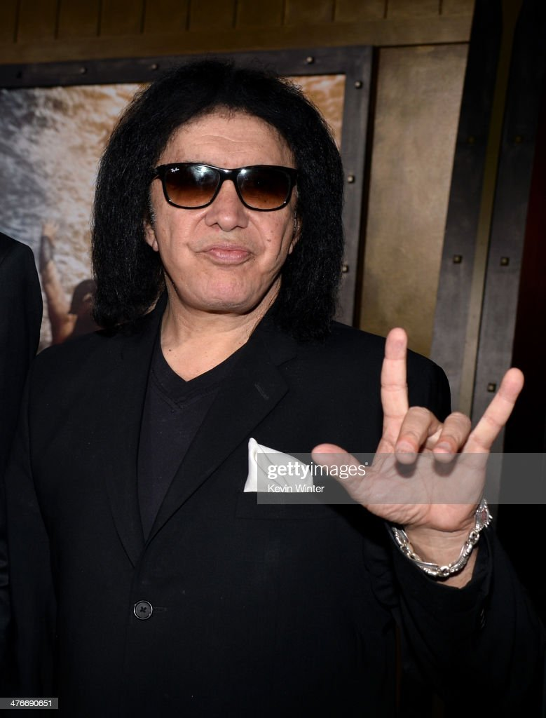 Musician Gene Simmons attends the premiere of Warner Bros. Pictures and Legendary Pictures' '300: Rise Of An Empire' at TCL Chinese Theatre on March 4, 2014 in Hollywood, California.