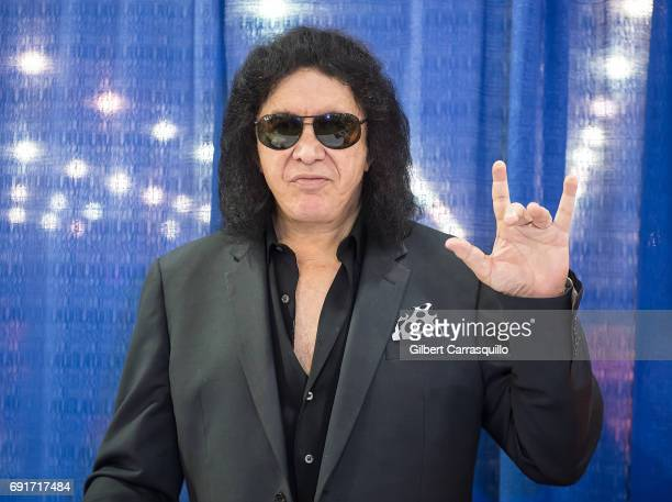 Musician Gene Simmons attends Wizard World Comic Con Philadelphia 2017 Day 2 at Pennsylvania Convention Center on June 2 2017 in Philadelphia...