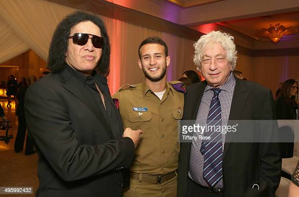 Musician Gene Simmons IDF soldier and producer Avi Lerner attend Friends Of The Israel Defense Forces Western Region Gala at The Beverly Hilton Hotel...
